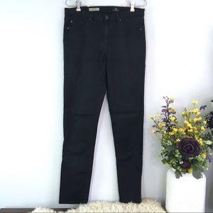 AG black prima midrise cigarette skinny jeans